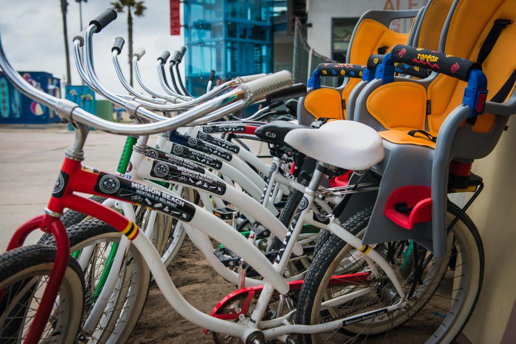Beach Cruiser Bikes with Child Seat